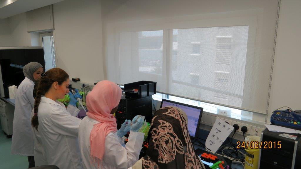 Interns in the laboratory